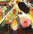 Wassily Kandinsky : Dame in Moscow 1912 : $385