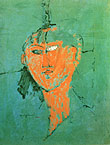 Amedeo Modigliani : Head of Young Woman 1915 : $379