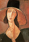 Amedeo Modigliani : Jeanne in Straw Hat 1917 : $379