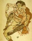 Egon Schiele : Embrace 1915 : $369