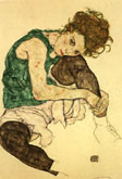 Egon Schiele : Seated Woman 1917 : $345