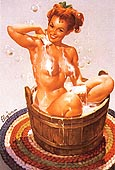 Pin Ups : Gil Elvgren Bubbling Over 1951 : $369