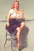 Pin Ups : Gil Elvgren Cold Feed 1958 : $369