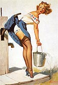 Pin Ups : Gil Elvgren Handle with Care 1952 : $369