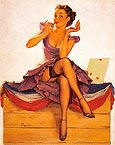 Pin Ups : Gil Elvgren Only for the Money 1954 : $365