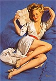 Pin Ups : Gil Elvgren He Thinks Im Too Good to Be True 1947 : $345