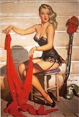 Pin Ups : Gil Elvgren Who Me 1952 : $395