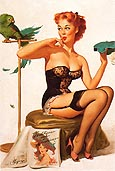 Pin Ups : Gil Elvgren No You Don't 1956 : $369
