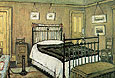 L-S-Lowry : The Bedroom, Pendlebury 1940 : $389