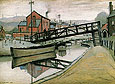 L-S-Lowry : Barges on a Canal 1941 : $389