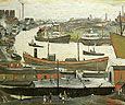 L-S-Lowry : River Wear at Sunderland 1961 : $345