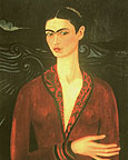 Frida Kahlo : Self Portrait in a Velvet Dress 1926 : $345