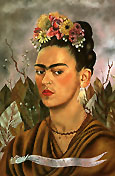 Frida Kahlo : Self Portrait Dedicated to Dr Eloesser 1940 : $399