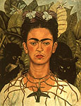 Frida Kahlo : Self Portrait with Necklace of Thorns 1940 : $365