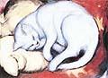 Franz Marc : Cat on a yellow Pillow : $345