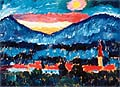 Alexej von Jawlensky : Village and Mountains 1910 : $335