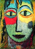 Alexej von Jawlensky : Tete de Femme Meduse : $325