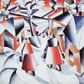 Kasimir Malevich : Morning in the village : $355