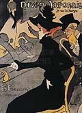 Henri Toulouse Lautrec : Le Divan Japonais : $369