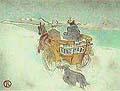 Henri Toulouse Lautrec : La charette anglaise : $345