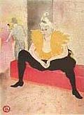 Henri Toulouse Lautrec : La Clownesse : $355