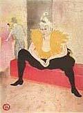 Henri Toulouse Lautrec : La Clownesse : $355