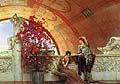 Sir Lawrence Alma Tadema : Unconscious Rivals : $365