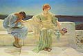 Sir Lawrence Alma Tadema : Young Lovers : $365