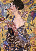 Gustav Klimt : Lady with Fan c1917 : $349