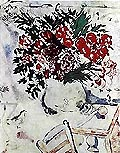 Marc Chagall : Still Life with Flowers : $369