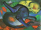Franz Marc : Two Cats 1912 : $345