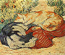 Franz Marc : Cats on a Red Cloth 1909 : $369