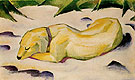 Franz Marc : Dog Lying in the Snow : $345