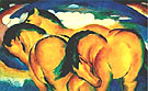 Franz Marc : The Small Yellow Horse 1912 : $369