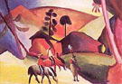 August Macke : Indians on Horseback : $335