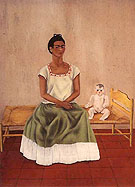 Frida Kahlo : Me and My Doll Self Portrait 1940 : $335