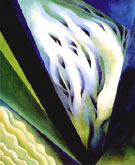 Georgia O'Keeffe : Blue and Green Music 1919 : $345