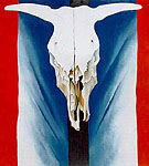 Georgia O'Keeffe : Cow's Skull Red White & Blue 1931 : $369