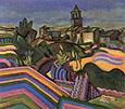 Joan Miro : Joan Miro Prades, the Village 1917 : $369