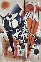 Fernand Leger : Composition with Umbrella 1932 : $399