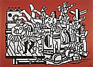 Fernand Leger : The Great Parade with a Red Blackground  1953 : $335