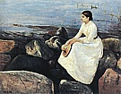 Edvard Munch : Summer Night Inger on the Shore  1889 : $369