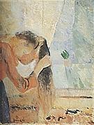 Edvard Munch : Girl combing her hair  1892 : $345