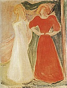 Edvard Munch : Two Girls from the Reinhardt Frieze  1906 : $365