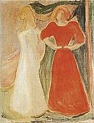 Edvard Munch : Two Girls from the Reinhardt Frieze  1906 : $365