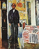 Edvard Munch : Self Portrait  Between Clock and Bed  1940 : $335