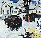 Edvard Munch : The Village Street  1905-08 : $369