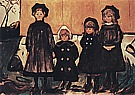 Edvard Munch : Four Girls at Asgardstrand  1902 : $345