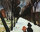 Edvard Munch : Snow Falling in the Lane  1906 : $385