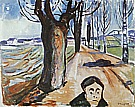 Edvard Munch : The Murderer in the Lane  1919 : $355